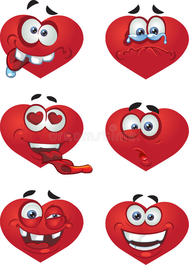 Heart Valentine`s day smiles royalty free illustration