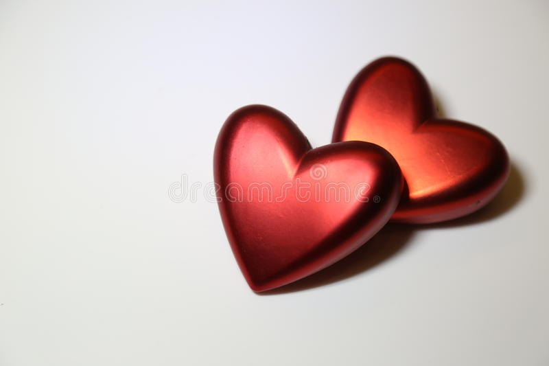 Heart on Valentine`s Day. On a white backgroundn royalty free stock image