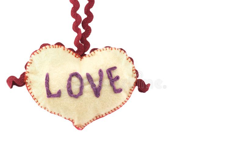 Heart for Valentine`s day on white isolated background stock photos