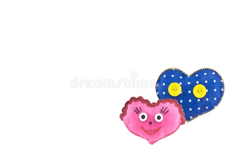 Heart for Valentine`s day on white isolated background stock photo
