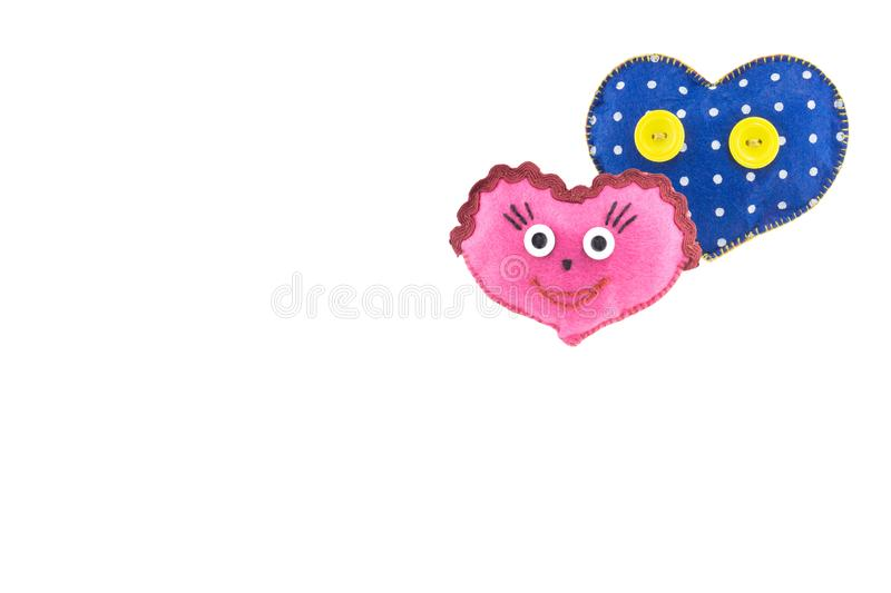 Heart for Valentine`s day on white isolated background royalty free stock image