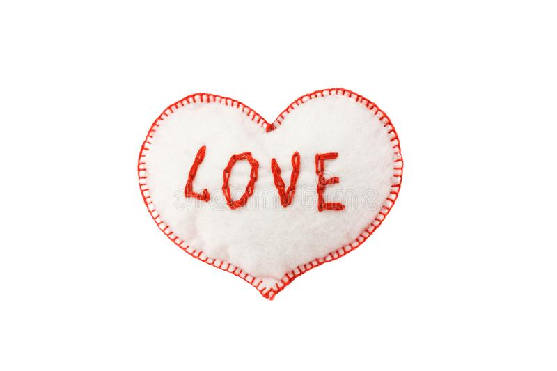Heart for Valentine`s day on white isolated background royalty free stock photography