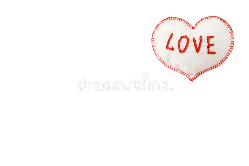 Heart for Valentine`s day on white isolated background royalty free stock photos