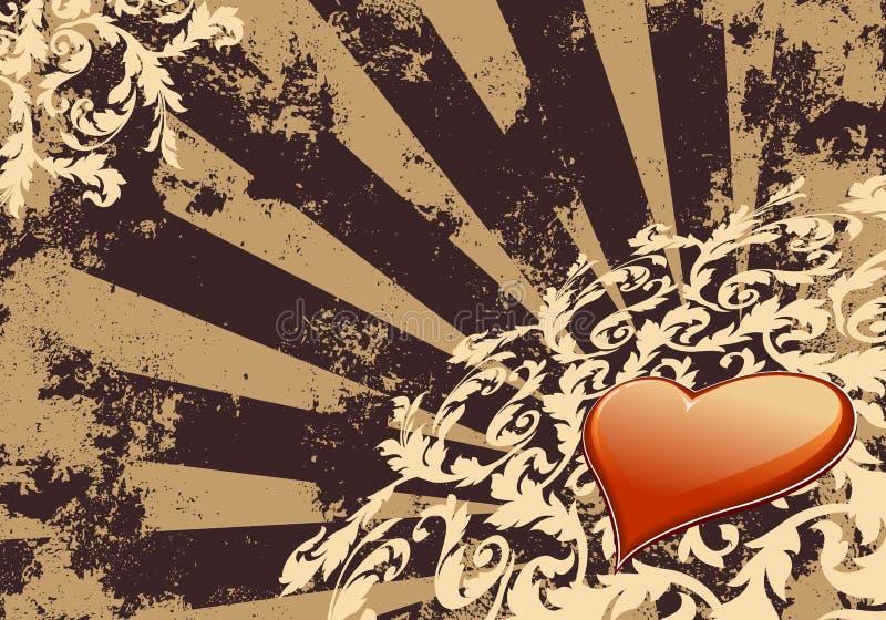 Heart Valentine Wallpaper stock image