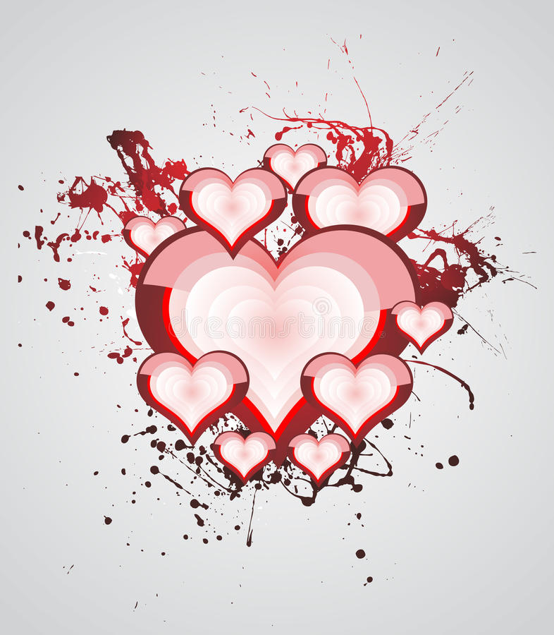 Download Heart Valentines Day Background Stock Vector - Image: 12501610