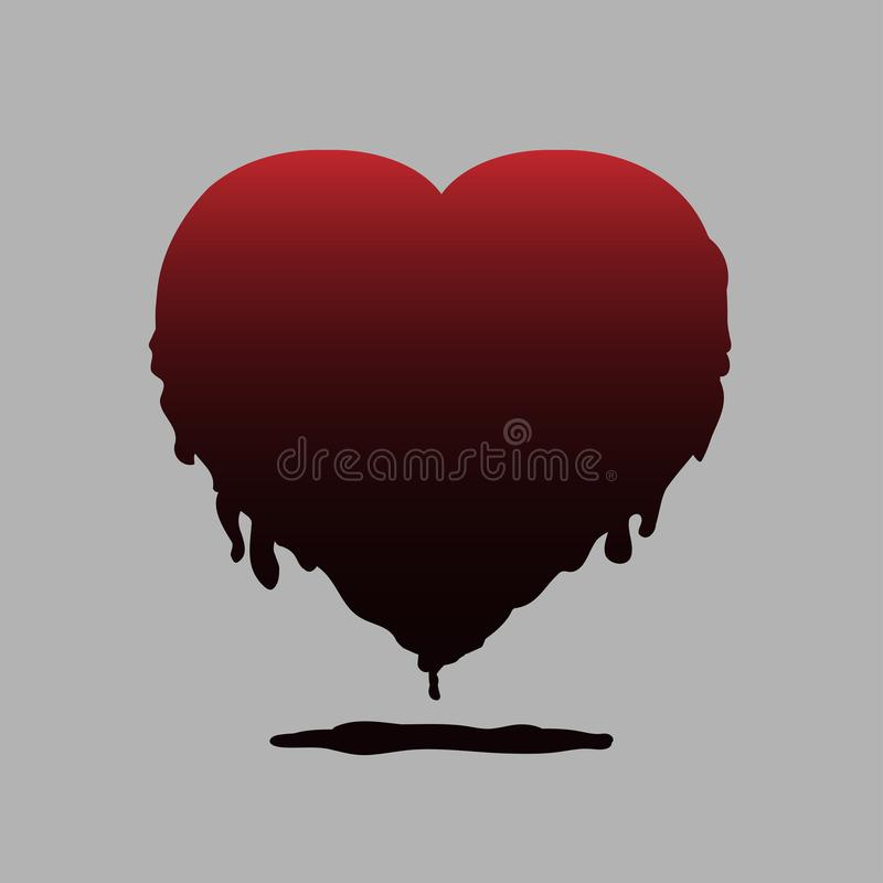 Heart vector for halloween stock illustration