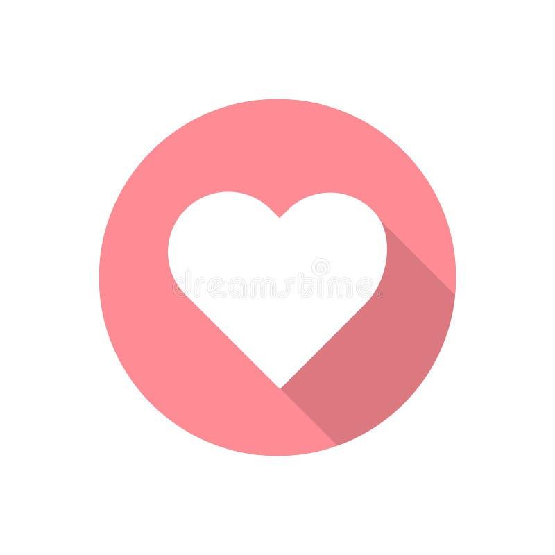 Heart vector icon flat style valentine romance sign decoration love symbol. vintage retro banner, poster template design illusatra. Tion vector illustration