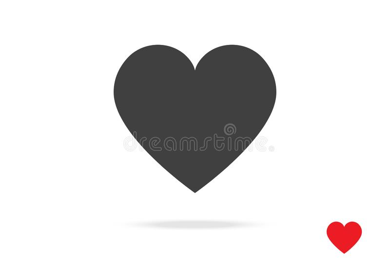 Heart Vector Icon Symbol Design for love Valentine Day Sign Greeting Card or Website on White isolated Background Illustration royalty free illustration