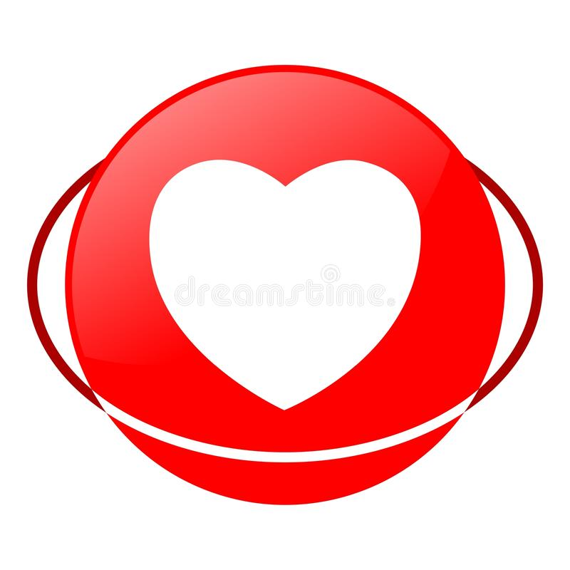 Heart vector illustration, Red icon. Red icon, heart vector illustration, vector icon vector illustration