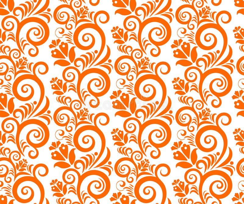 Vector unique ornamental hand drawing decorative background. Ethnic seamless pattern ornament. royalty free illustration