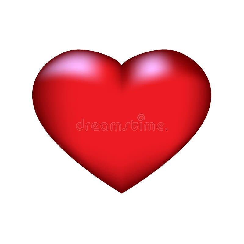 Heart2 vermelho ilustração stock