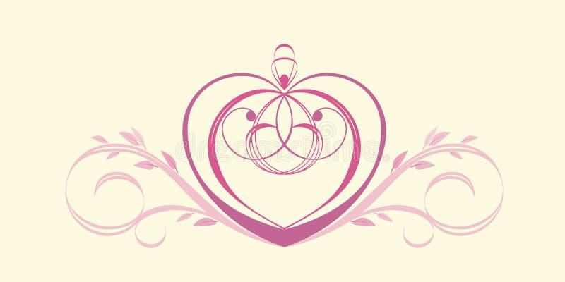 Download Heart vignette stock vector. Image of leaf, outline, painting - 33088983