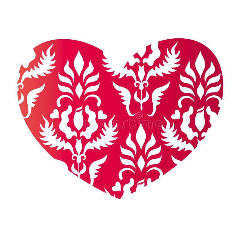 Heart in vintage style stock illustration