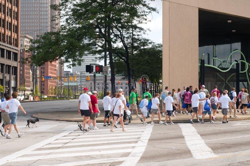 Heart Walk Cleveland Editorial Image