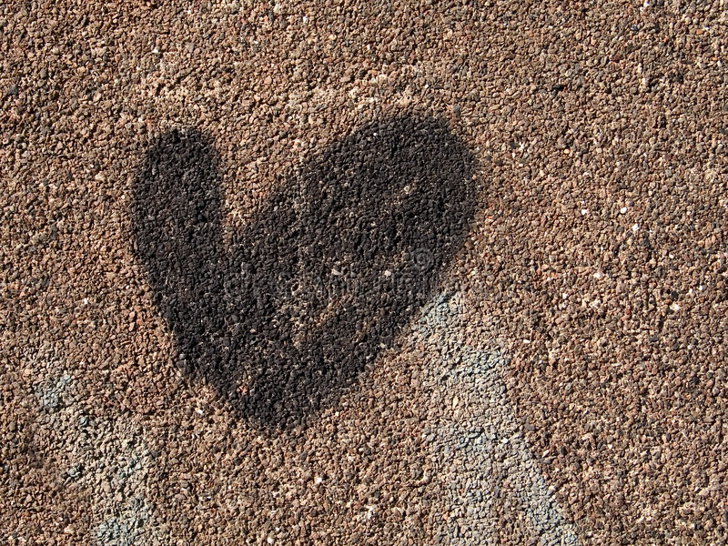 Heart on a wall stock image