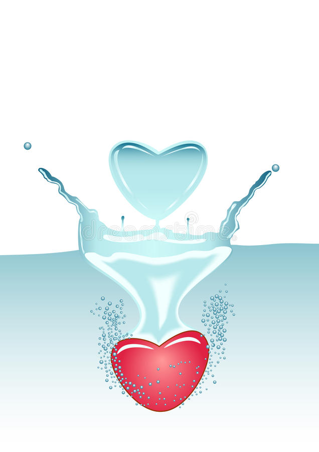 Download Heart in water stock vector. Illustration of transparent - 19499395