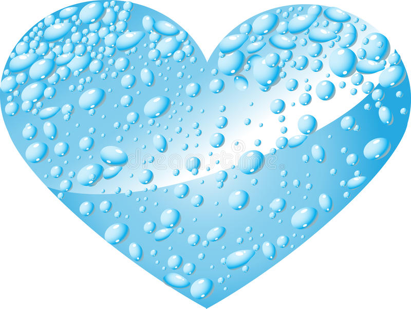 Heart from water drops stock images