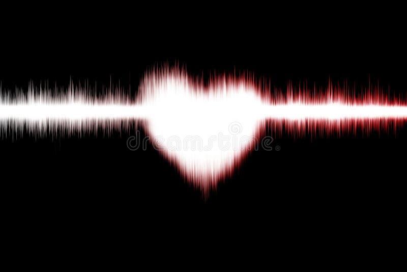 Download Heart wave stock illustration. Image of decibel, lines - 28953870