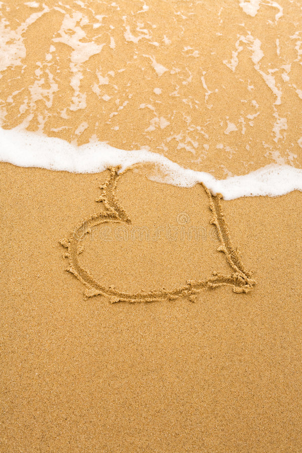 Heart and wave royalty free stock photo