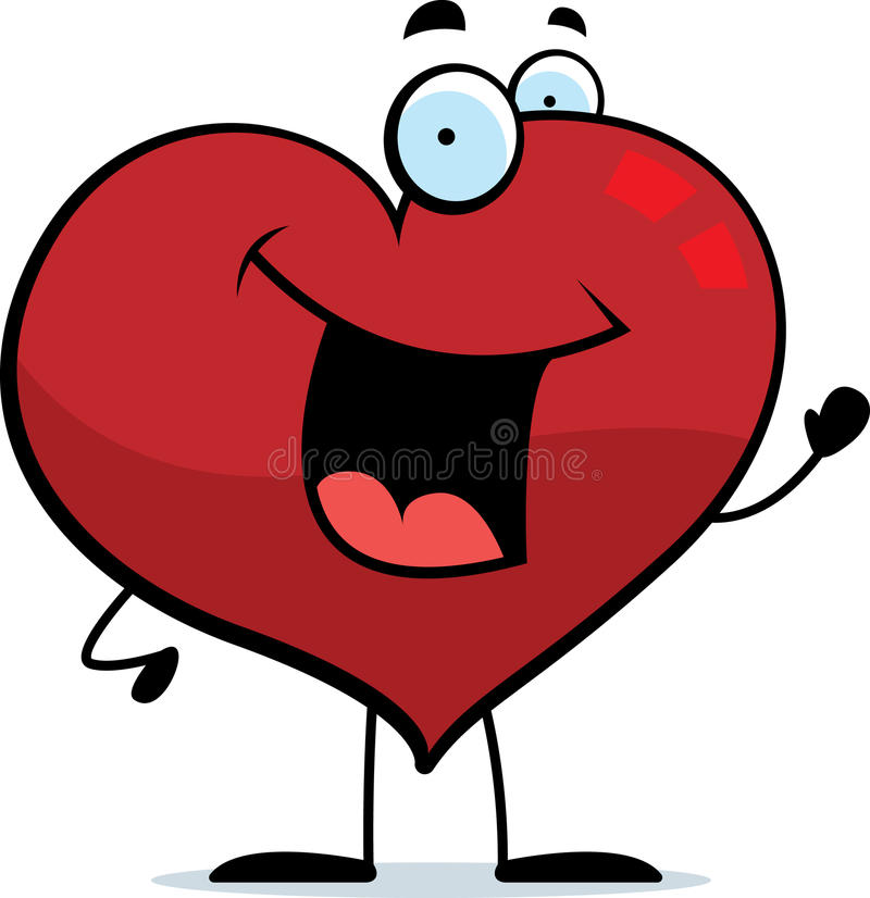 Download Heart Waving stock vector. Image of waving, cartoon, illustration - 11082085