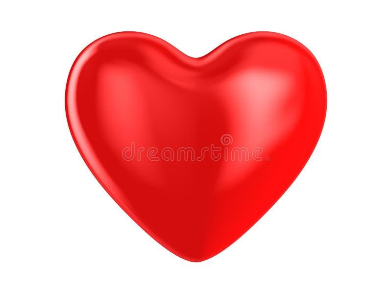 Heart on white background. Isolated 3D illustration.  royalty free illustration