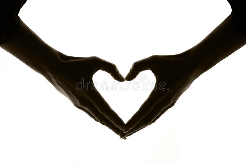 Download Heart On A White Background Made By Hands Stock Photo - Image: 10701192