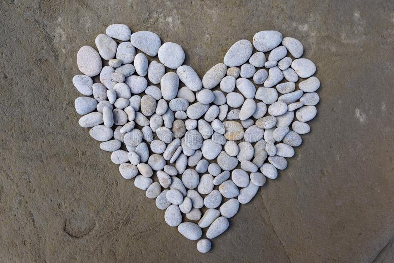 Heart of white stones stock images