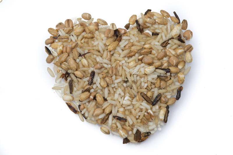 Heart of wild rice. Healthy superfoods stock image