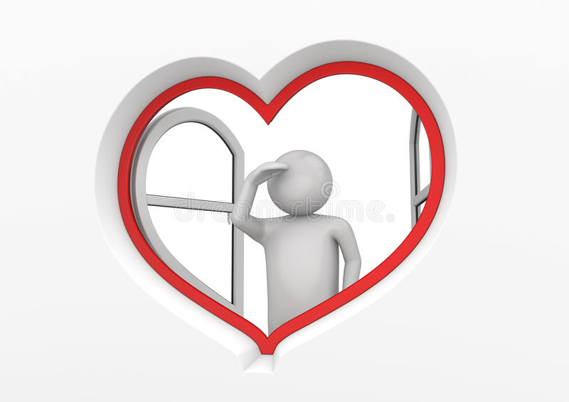 Heart window observer 3 royalty free stock photography
