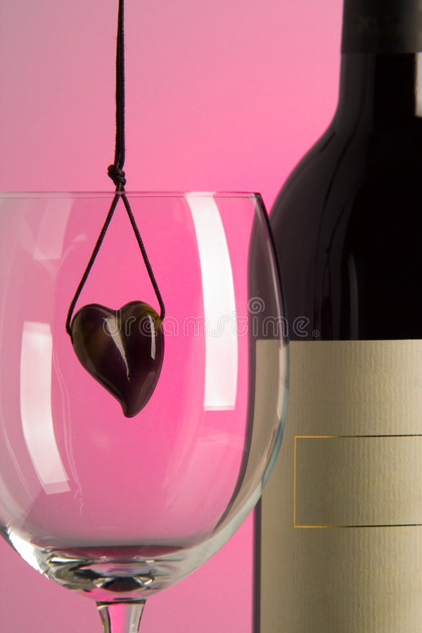 Download Heart and wine stock image. Image of valentine, rubin, restaurant - 685397