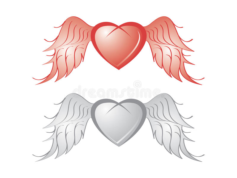 Download Heart with wing stock vector. Image of flourish, clipart - 20633600