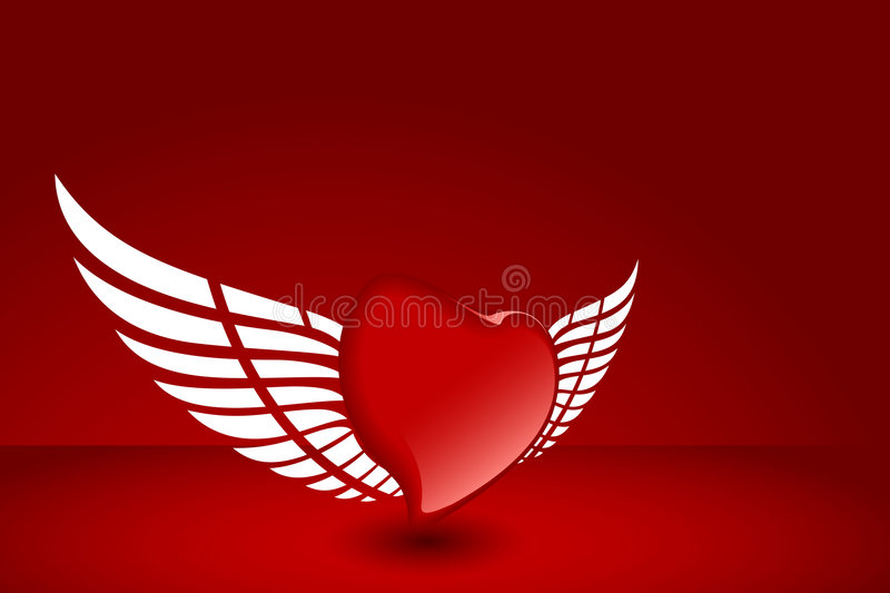 Download Heart with wing stock vector. Illustration of heart, ideas - 7501021