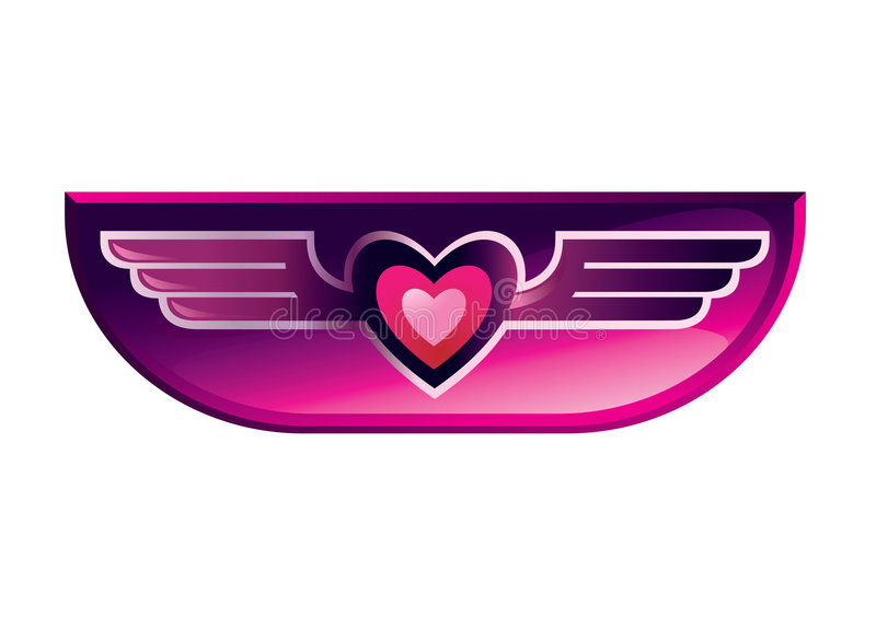 Download Heart wing icon stock vector. Image of wing, decoration - 8943300