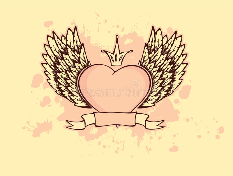 Heart with wings. Vector illustration vector illustration