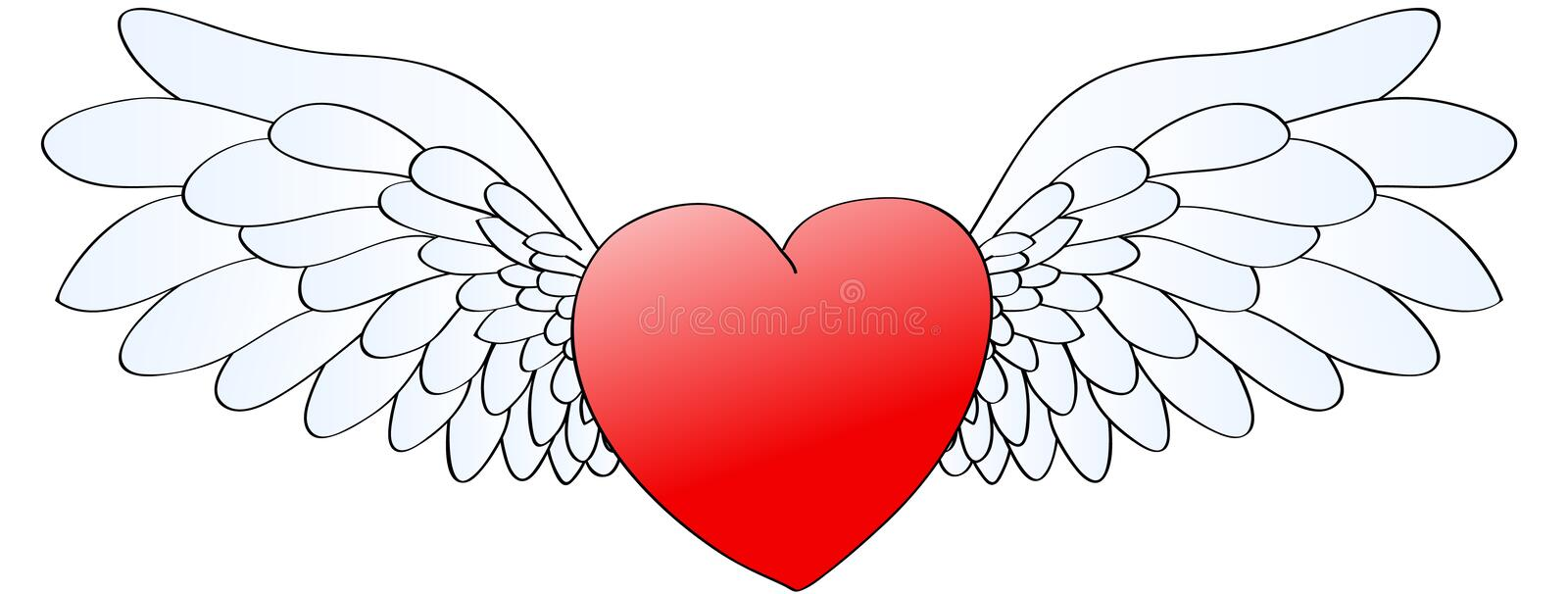 Download Heart with wings stock vector. Image of hearts, vector - 12855241