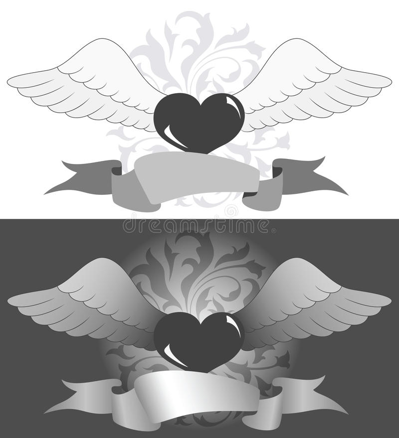 Download Heart with wings stock vector. Illustration of light - 18088189
