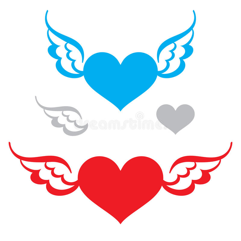 Download Heart and Wings stock vector. Image of heart, design - 24978273