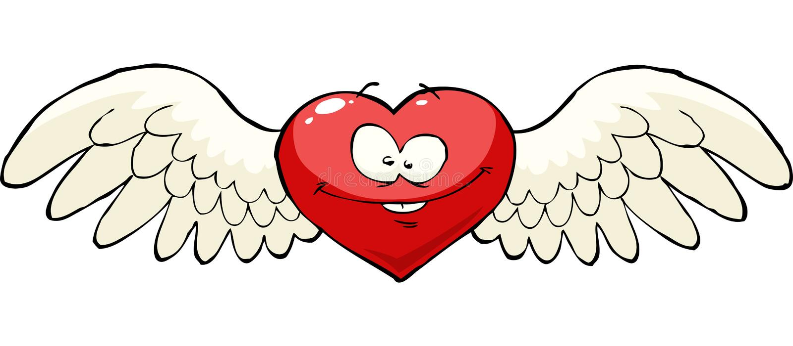 Heart with wings. On a white background vector royalty free illustration