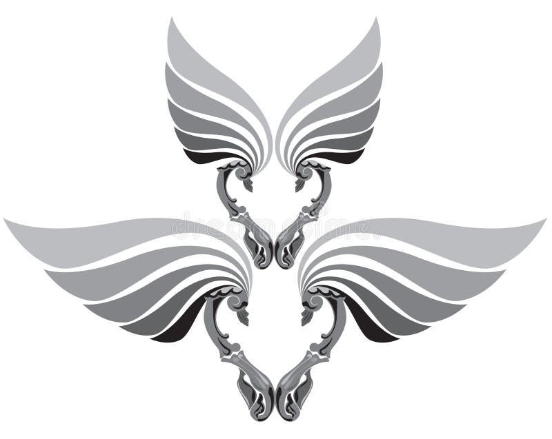Heart wings stock illustration