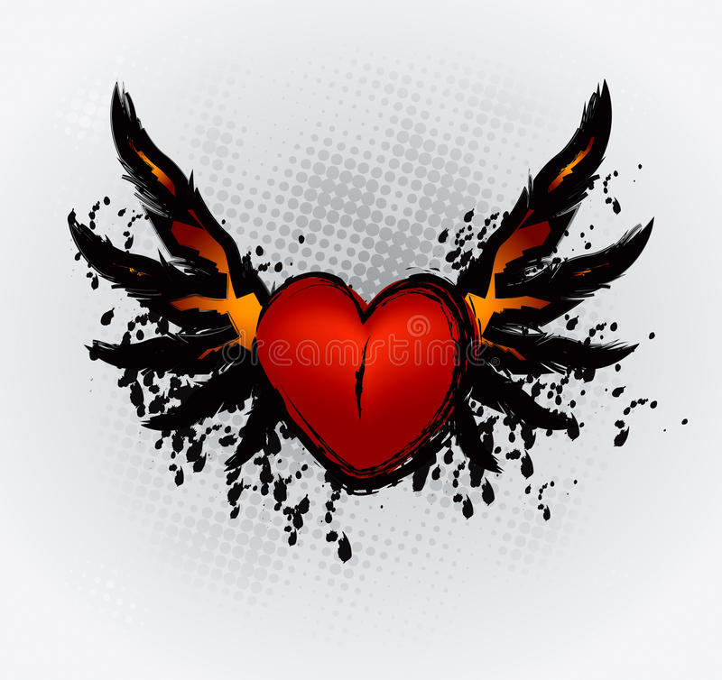 Download Heart Wings stock vector. Image of light, burning, passion - 27150112