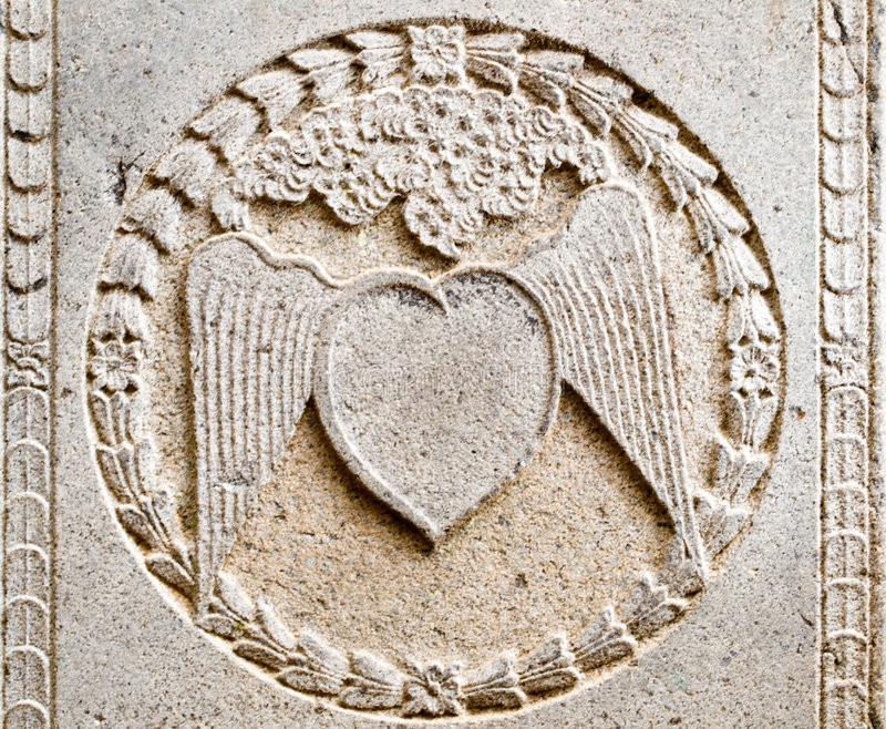 Download Heart on Wings stock image. Image of sculpture, wing, flat - 4464363