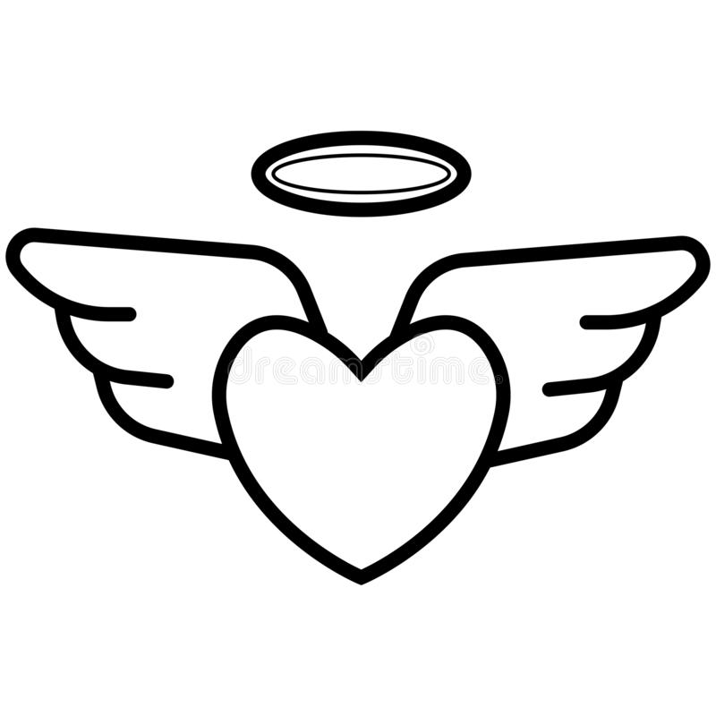Heart With Wings Icon Stock Vector Illustration Of Heaven 125892624