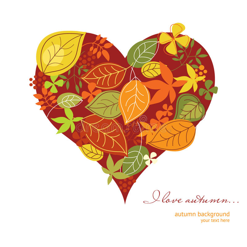 Free Heart With Autumn Leaves Stock Image - 15679301