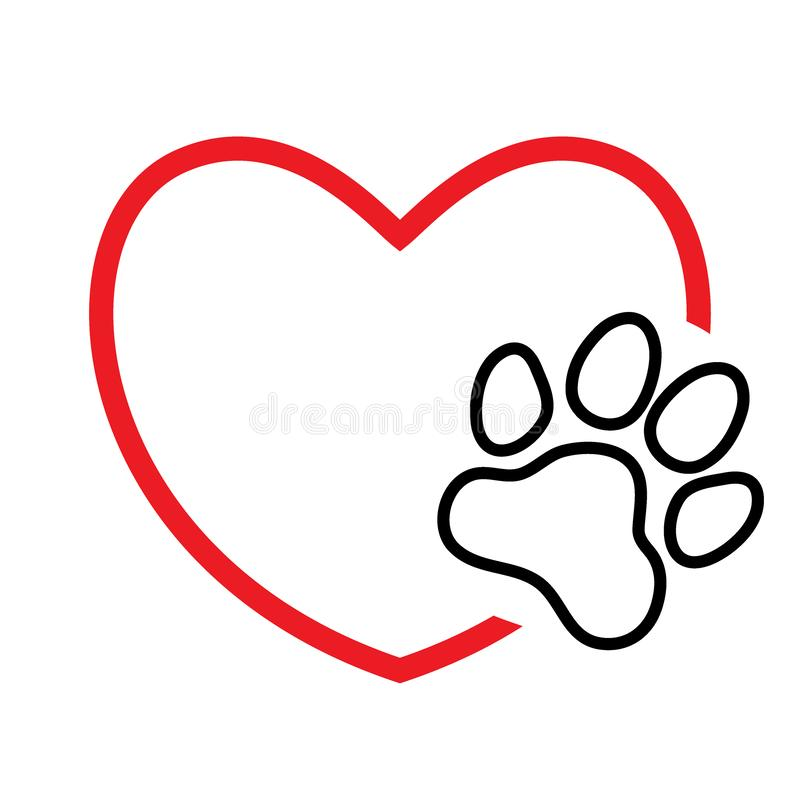 Free Heart With Paw Print Royalty Free Stock Images - 140921389