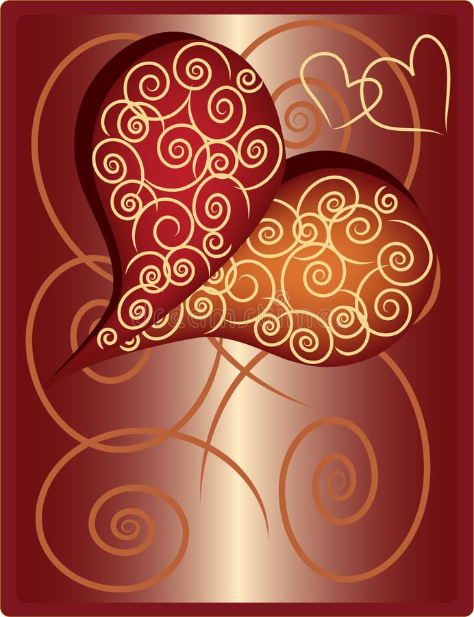 Free Heart With Spirals. Stock Photos - 12797923