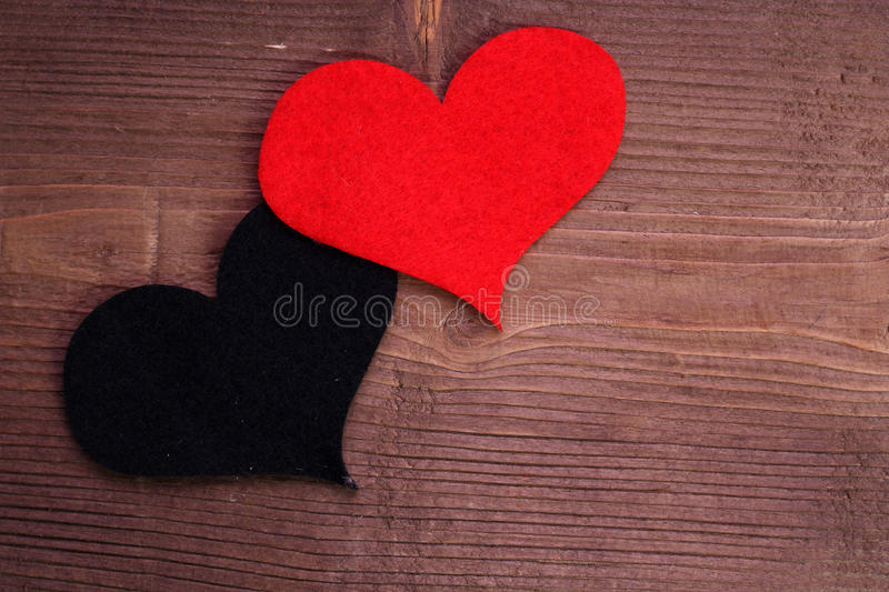 Heart on wood stock photography