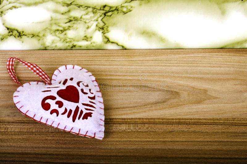 Heart on wooden background. royalty free stock photos