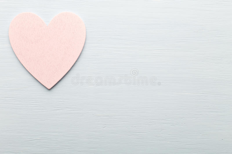 Heart. Heart on the wooden background. Provencal still stock photo