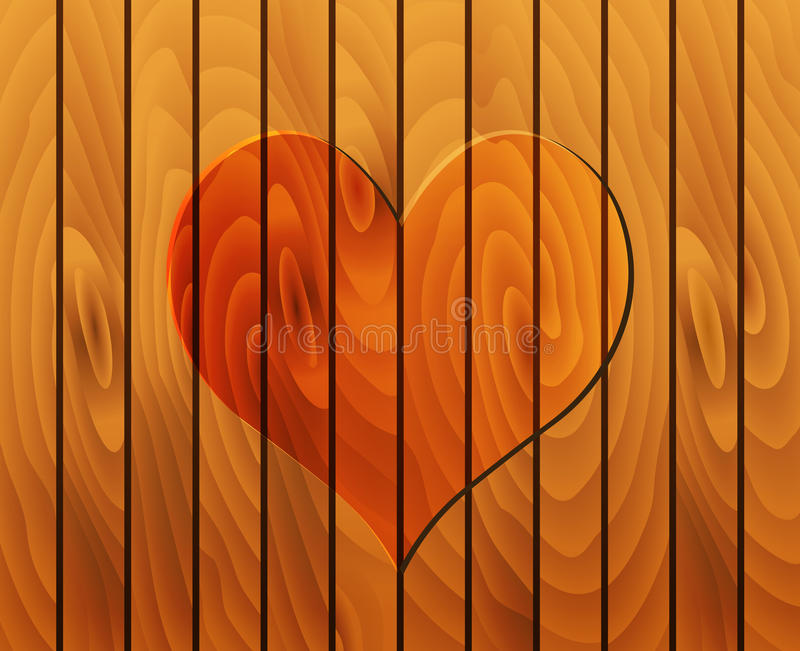 Download Heart on wooden texture stock vector. Illustration of symbolic - 28911805