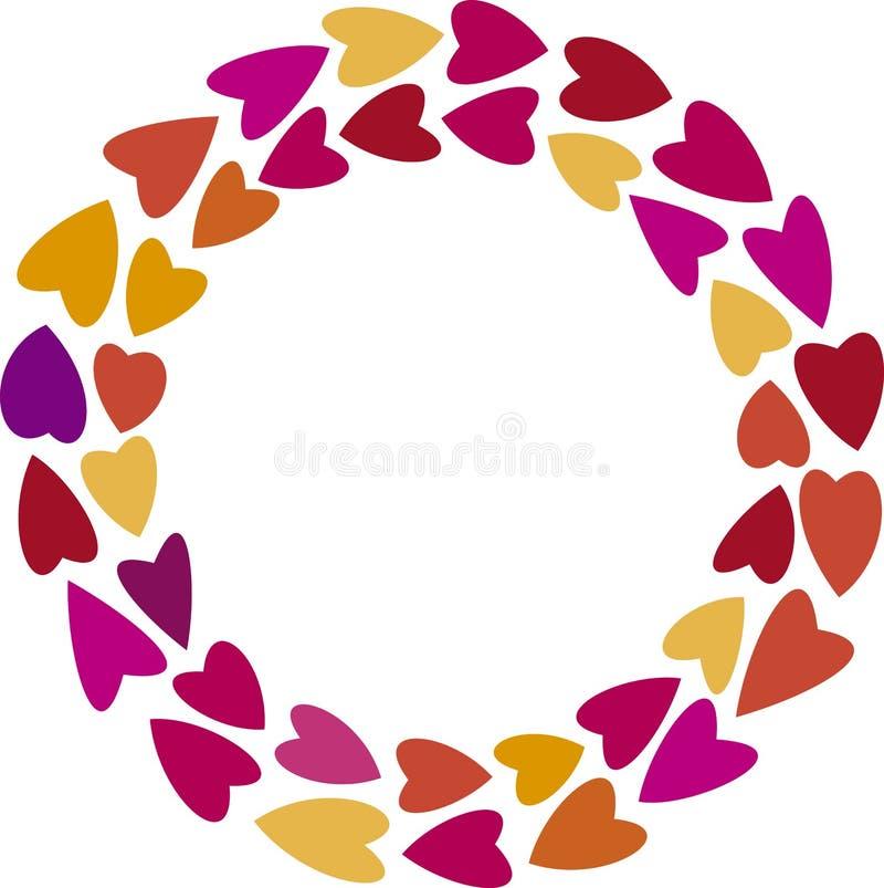 Download Heart wreath stock vector. Image of vector, wreath, orange - 28901933